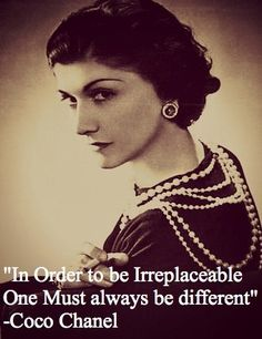 """Fun quote for the day!  """"In order to be irreplaceable- One must always be…"""