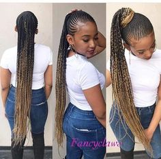 Here is Small Cornrows Braids Ideas for you. Small Cornrows Braids 42 catchy cornrow braids hairstyles ideas to try in Sm. Braided Ponytail Hairstyles, Braided Hairstyles For Black Women, African Braids Hairstyles, Girl Hairstyles, Cornrows In A Ponytail, Summer Hairstyles, Black Girl Braids, Braids For Black Hair, Girls Braids