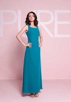 Column teal bridesmaid dress from Pure Bridesmaid