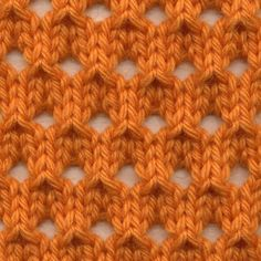 Crochet Stitches Patterns Knot Knecessarily Known Knitting: Symmetrical Yarn Over Net Pattern Lace Knitting Stitches, Knitting Basics, Crochet Stitches Patterns, Knitting Charts, Lace Patterns, Loom Knitting, Knitting Patterns Free, Free Knitting, Knitting Projects