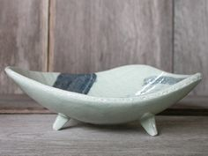 Japanese Ceramic Plate Handmade Pottery Dish Triangle by Singhato