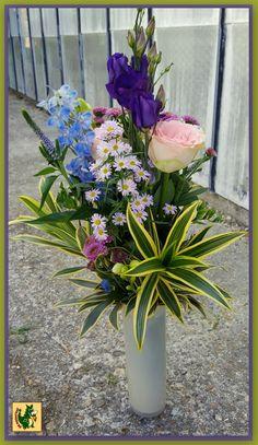 Dracaena Refelxa Song of India en allerlei bloemen,.
