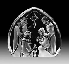 Crystal Holy Family Nativity Sculpture, Mats-Jonasson-Crystal-All-Products, 33612 Nativity Creche, Nativity Scenes, Christmas Nativity Scene, Nativity Crafts, Christmas Figurines, Christmas Ideas, Indoor Crafts, Holy Family, Museum Of Fine Arts