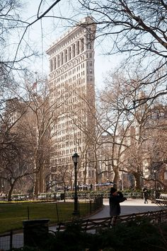 FlatIron building in New York City - haven't see photo from this angle, very cool