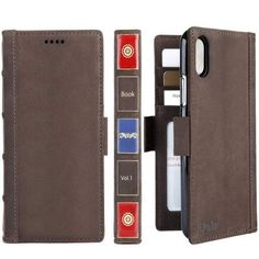 iPhone Xs Max Leather Wallet Case - iPulse Vintage Book Series Italian Full Grain Leather Handmade Flip Case Apple iPhone Xs Max Magnetic Closure - Retro Brown by iPulse Iphone 10, Best Iphone, Apple Iphone, Iphone Cases, Leather Case, Leather Wallet, Real Leather, Designer Cell Phone Cases, Leather Cell Phone Cases
