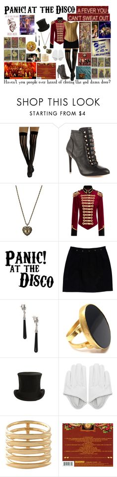 """""""Panic! at the Disco A Fever You Can't Sweat Out Inspired"""" by pie-epic ❤ liked on Polyvore featuring BCBGMAXAZRIA, FOSSIL, Pinky Laing, Loeffler Randall, NOVICA, Yossi Harari, Jayson Home and Shaun Leane"""