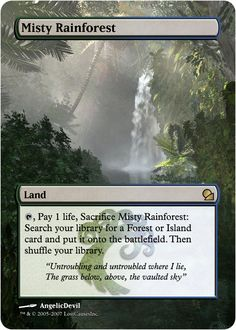 Magic The Gathering Misty Rainforest Proxy