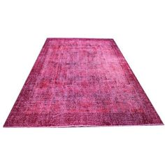 """Turkish Dark RED Oushak Overdyed Rug - 7' x 10'4"""" featuring polyvore, home, rugs, handmade rugs and hand made rugs"""