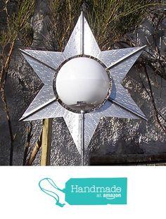 """Designer Solarleuchte """"Lichtblüte Stern"""" mit farbwechselnder Solarkugel von der Mosaic Metal Art https://www.amazon.de/dp/B01N6S7BAP/ref=hnd_sw_r_pi_dp_I2ExzbBKCYKGZ #handmadeatamazon"""
