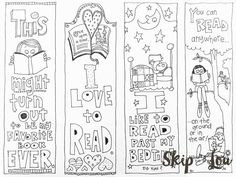This Free Printable bookmark sheet is very cute! Print off this sheet and allow the kids (or adults) to color in their own bookmarks. Once colored these bookmarks can be laminated for extra durability. Free Printable Bookmarks, Bookmark Template, Bookmark Craft, Bookmarks Kids, Free Printables, Bookmarks To Color, Printable Book Marks, Crochet Bookmarks, Marque Page
