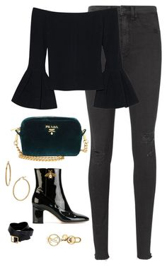 """""""Untitled #4488"""" by magsmccray on Polyvore featuring rag & bone, Alexis, Prada, Gucci, Bony Levy and Alexander McQueen"""
