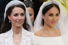 Kate Middleton or Meghan Markle—who had a better royal wedding? Kate Middleton Wedding, Kate Middleton Hair, Prince William And Kate, William Kate, Duke And Duchess, Duchess Of Cambridge, Harry Wedding, Meghan Markle Prince Harry, Kate And Meghan