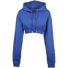 Off-white Simple Crop Blue Hoodie Sweatshirt Crop Top Hoodie, Crop Shirt, Cropped Hoodie, Blue Hoodie, Trendy Hoodies, Cool Hoodies, Swag Outfits For Girls, Teen Fashion Outfits, Hoodie Outfit