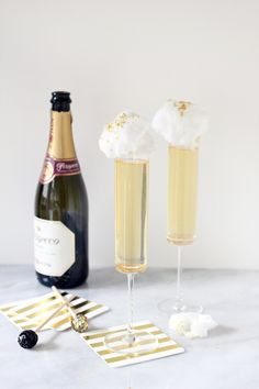 Ginger + Prosecco Cocktail