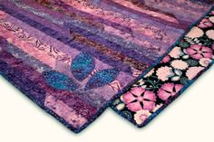 Purple Sunset Strip Lap Quilt by MyQuiltBox on Etsy, $90.00