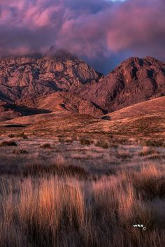 Wayne Suggs photo. Sunset on the Organ Mountains near Las Cruces, New Mexico.