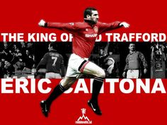 The King of Old Trafford Eric Cantona, Auxerre, Sir Alex Ferguson, Manchester United Football, Leeds United, Old Trafford, Man United, Sport Motivation, Soccer Players