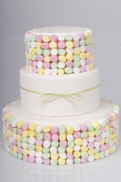 Love the pastel mini marshmallows! Would be cute for a baby shower or baby birthday.