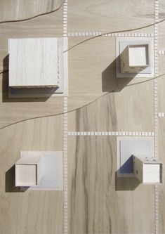 architectural model exploring design development for a sustainable housing scheme in Northern Scotland