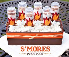 S'mores Push Pops - recipe and DIY tutorial-Camping birthday party