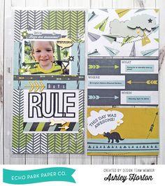 Boys Rule Photo Freedom Layout by Ashley Horton #echoparkpaper