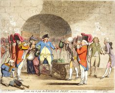 James Gillray-Prince of Caricaturists: A New Way to Pay the National Debt by James Gillray