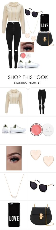 """lazy day wear"" by chapbl on Polyvore featuring Topshop, Converse, Ted Baker, Kendra Scott, Givenchy and Chloé"
