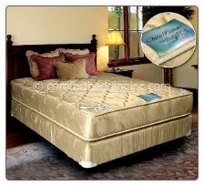 """Perfect blend of comfort, support and beauty.  Mattress Specification  * 357 innerspring verticoil unit, with 13 3/4 SH gauge unit and 6 gauge border * 12 edge guards-border support * 1"""" stitch shoddy pad on each side * 1x½"""" foam on one side * Heavy damask fabric-class B"""