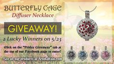 We have 2 beautiful butterfly essential oil diffuser necklaces to give away!  Hurry, it ends on midnight 5/22.  Mobile Users: http://woobox.com/ez632h
