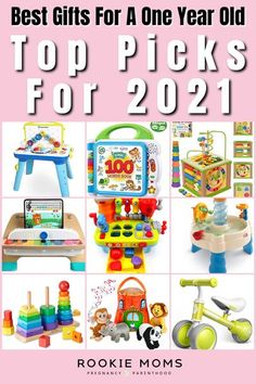 One-year-olds will make anything a toy — like that tube of butt cream or disposable coffee cup you keep trying to throw away — but since those don't make the best presents, we have some ideas for you. Here are our favorite go-to best gifts for a one year old. Some of the best gifts for a one-year-old are fun toys, some are great for development, and others are just ridiculously cute. #toddlers #toddlertoys #toddlerparenting #giftideas One Year Baby Gift, One Year Old Baby, Babies First Year, Baby Shower Gifts, Baby Gifts, Best Toddler Toys, Baby On A Budget, Baby Planning, Baby Must Haves