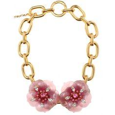 Necklace With Oversized Flower Embellishment ☼ Miu Miu + mytheresa