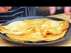 Naleśniki delikatne i chrupiące ! Crepe Recipes, Cake Cookies, Peanut Butter, Pizza, Bread, Pierogi, Ethnic Recipes, Youtube, Polish