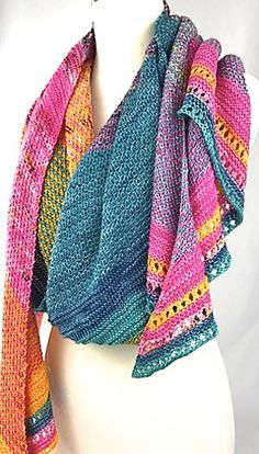 Mixology Shawl Pattern by Casapinka. Color combination questions can be posted in the Casapinka Ravelry Group. Crochet Shirt, Knit Or Crochet, Crochet Vests, Crochet Cape, Crochet Edgings, Crochet Motif, Shawl Patterns, Knitting Patterns, Crochet Shawls And Wraps