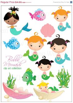 Hey, I found this really awesome Etsy listing at https://www.etsy.com/listing/183763122/70-off-sale-bubba-mermaids-clip-art-set
