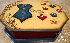 Caixa de costura com carimbos para artesanato loucas por caixas - Loucas por caixas - Terra Fotolog