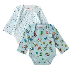 Spaceships 2 Pack Baby Bodysuit   Kids   CathKidston