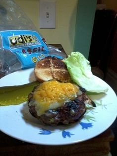 Amazing Burger with blue cheese, bacon, onions, and sriracha! | Udi's® Gluten Free Bread