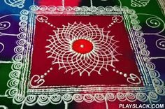 Creative Rangoli Designs 2015  Android App - playslack.com , This app showcases some excellent collection of unique Rangoli designs. Excellent work showing rich Indian culture. Use this app for any occasion - be it Karwa-chowth, diwali, rakhi, id, pongal, onam. Make this app part of all your festivals and make it special.Rangoli is also known as kolam or muggu. It will bring good luck to your life and is considered very auspicious.Features:- Set image as wallpaper- Share photos- All kind of…