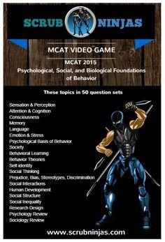 MCAT 2015 PSYCHOLOGICAL, SOCIAL, AND BIOLOGICAL FOUNDATIONS OF BEHAVIOR INFOGRAPHIC #mcat #psychology #itunes #videogame #premed #medicalstudent
