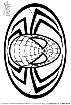 how to draw the spiderman logo, spiderman symbol step 5 ...
