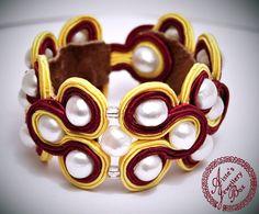 OOAK Soutache jewelry bracelet