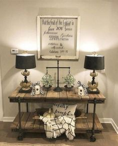 diy farmhouse living room wall decor 24 – Home Design Room Wall Decor, Living Room Decor, Dining Room, Living Area, Bedroom Decor, Pottery Barn, Reclaimed Wood Media Console, Home Decoracion, Decoration Design