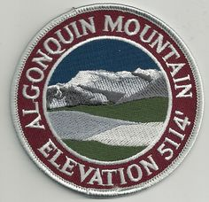Souvenir Travel Patch Algonquin Mountain Adirondack Mountain Peak New York   eBay