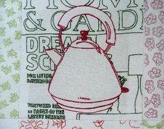 Caren Garfen - Domestic Blissful embroidery!
