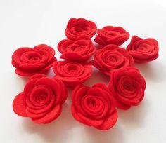 Felt Flower RED