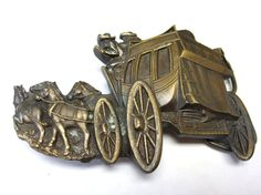 Vintage Belt Buckle 1979 Stagecoach And Horse by sweetie2sweetie, $9.99