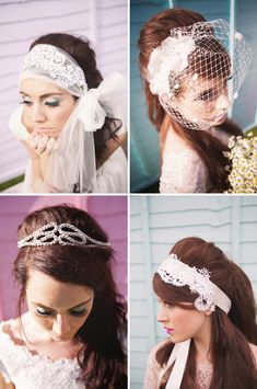 Lots of wedding hair pieces