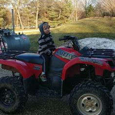 Great day to play on the ATV with Gavin!