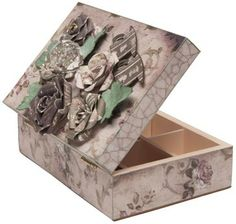 Tea Caddy - FabScraps Tea Caddy, Decorative Boxes, Paper Crafts, Projects, Pictures, Inspiration, Chipboard, Image, Home Decor