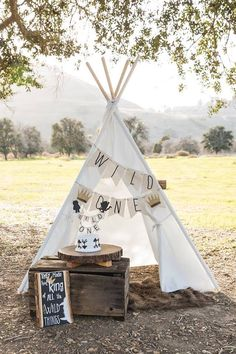 """Wild One Teepee from a """"Where the Wild Things Are"""" Birthday Party on Kara's Party Ideas 